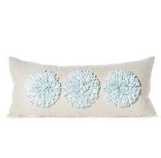Daniel Stuart Studio - Gallery - Aster Pillow - Churchill Linen Aster Pilllow col: Blue Mist / Flax