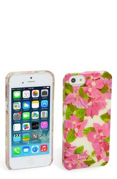 So pretty! Bougainvillea print iPhone case by Kate Spade.