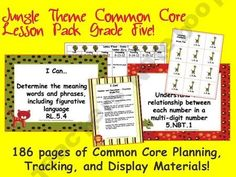 Jungle Theme Grade Five Common Core Lesson Planning Pack product from The-OC-Blogs-TN-Shop on TeachersNotebook.com
