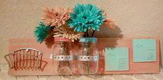 Rustic Farmhouse or Beach Style Mason Jar Wall Hanging Vases or Storage | eBay
