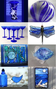 Beautiful Cobalt Blue glass by Lorraine on Etsy--Pinned with TreasuryPin.com
