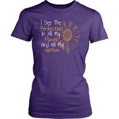 Sunflower Inspirational and Motivational T-Shirt or Tank Top - District Womens Shirt / Purple / XS