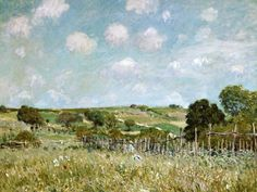 Alfred Sisley-The Meadow.