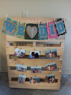 Wedding decor with pallets