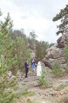 An Intimate Wedding Vow Renewal in the Troodos Mountains. The wedding inspiration of the whole shooting comes from the nature: mountains,leaves,wedding vow