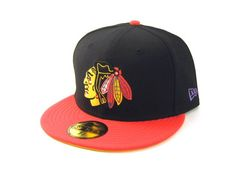 CHICAGO BLACKHAWKS NEW ERA FITTED HATS