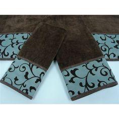 Brown Bath Towels Also For The Master Bathroom Brown Bathrooms - Teal decorative towels for small bathroom ideas