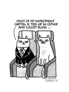 """Sky Cats - Money"" (2012) by Gemma (Gemma Correll) | Posted 2 January 2013"
