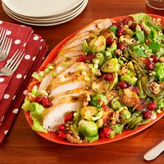Roast Turkey  Salad with Cranberry Vinaigrette
