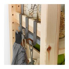 necklaces pinned to burlap linen and denim canvases hung on ikea ivar hack folding screens. Black Bedroom Furniture Sets. Home Design Ideas