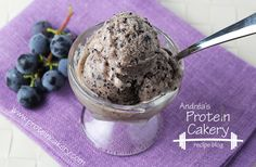 Concord Grape Protein Gelato - Andréa's Protein Cakery high protein recipes - protein ice cream - protein sorbet