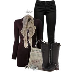 A fashion look from September 2014 featuring Dolce&Gabbana cardigans, J Brand jeans and Frye boots. Browse and shop related looks.
