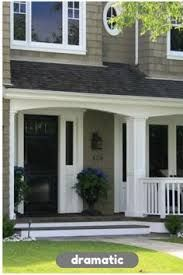 Image result for grey house with black door