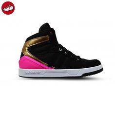 adidas Unisex Baby Court Attitude K Turnschuhe, Schwarz / Pink / Gold  (Negbas /