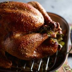 Roasting the Turkey - how much? for how long? how big of a pan do you need? from Williams-Sonoma