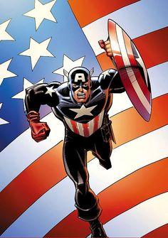 Captain America Vol. 5 # 44 (Variant) by Sal Buscema Captain America Comic Books, Captain America And Bucky, Chris Evans, Captain Merica, Bucky Barnes Marvel, Superman Artwork, Sal Buscema, Comic Art Community, Batman