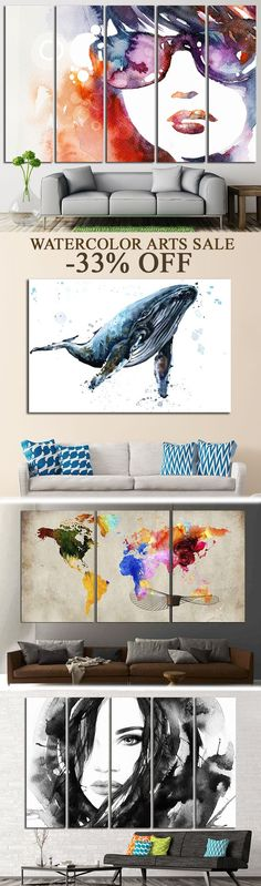 Are you looking for something aesthetic appealing to your eyes? Checkout this great Watercolor Canvas Arts!