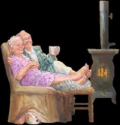 Stay warm & cozy with a non electric heater. Power out? No problem. Getting Old, Best Friends, Gifs, Animated Cartoons, Animated Gif, Old Folks, Grow Old With Me, Grands Parents, Growing Old Together