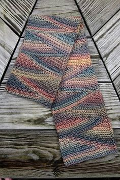 Free pattern and Tutorial by Vashti Braha: Crochet Slip Slope (short row wedges of slip stitch ribs).