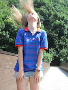 The Chatel ellesse heritage  classic striped polo, SS12.  Girls can rock it too!