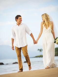 easy and laid back beach wedding