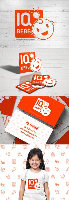 Brand Identity Portfolio - Iq Bebe www.iqbebe.ro #logodesign #branding… Kids Branding, Logo Branding, Branding Design, Corporate Identity Design, Brand Identity, Logo Character, Toys Logo, Bussiness Card, Design Research