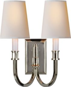 modern library double sconce item # TOB2328 $483