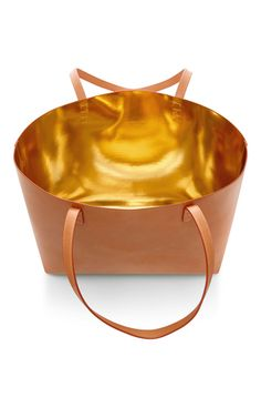 Cammello And Gold Tote by Mansur Gavriel