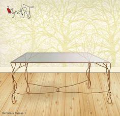 Mesas de comedor http://virginiart.es El hierro toma las formas de las ramas de los árboles, para crear está bonita mesa de comedor. Diseñamos y realizamos muebles en forja y metal.