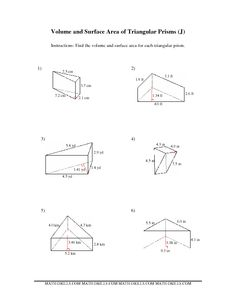 math worksheets volume and surface area surface area of solids worksheets and solutions new. Black Bedroom Furniture Sets. Home Design Ideas