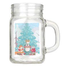 festive snow creatures mason jar - mason jars gifts ideas presents