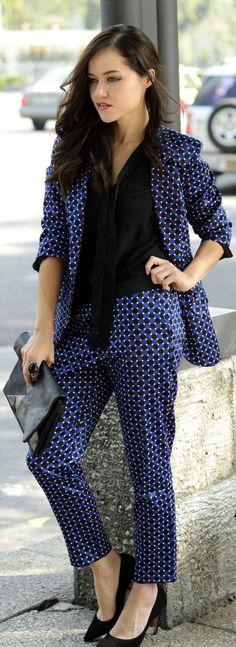 #Geometric #Print #Suit !  by Moda capital