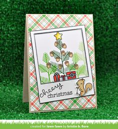 Hello everyone! Welcome to our special Fawny Holiday Week! This week is all about getting ideas for the upcoming Holidays! Christmas Cards To Make, Xmas Cards, Holiday Cards, Christmas Things, Christmas Trees, Greeting Cards, Fall Cards, Winter Cards, Lawn Fawn Blog