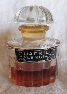 Vintage 1950's Quadrille Balenciaga Perfume by AuntSuesVintage, $49.99