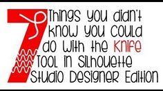 7 things you didn't know you could do with the knife tool in Silhouette Designer Edition