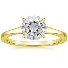 8c493d5b641 18K Yellow Gold Moissanite Muse Ring. Anel De Diamante Ouro RosaAnéis ...