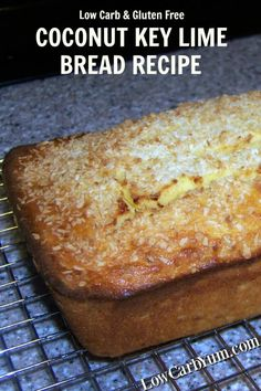 This coconut key lime bread recipe turned out to be moist and flavorful without being undercooked. The flavor combination does not disappoint. | LowCarbYum.com