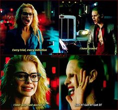 This Scene Makes Me Cry Every Time Screw U Joker Harley Loves And All Do Is Push Her Away