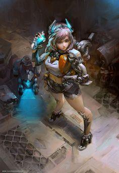 Explore by Yu Cheng Hong http://yucheng.cgsociety.org/art/explore-robotic-cyborg-2d-1417732