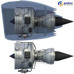 model of Rolls-Royce Trent 1000 turbofan aircraft engine. Plane Engine, Aircraft Engine, Jet Engine, Turbine Engine, Gas Turbine, Rolls Royce Trent 1000, Turbofan Engine, Reactor, Aircraft Maintenance
