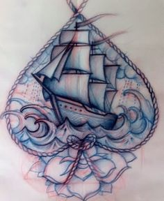 sailing ship sketches | Sailing Ship Tattoo Sketch: Real Photo, Pictures, Images and Sketches ...