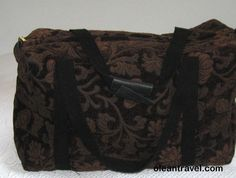 Vintage Rustic Travel Carpet Bag / Large Brown Carpet Luggage Bag - http://oleantravel.com/vintage-rustic-travel-carpet-bag-large-brown-carpet-luggage-bag