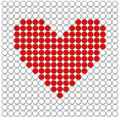 Kralenplanken kaartsymbolen 3: harten, opgenomen in het speelkaarten werkboek voor de kinderboekenweek 2013 over sport en spel onder het motto klaar voor de start.