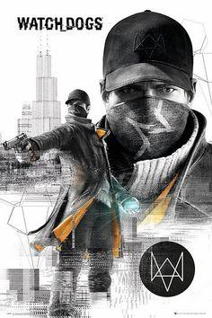 Póster Watch Dogs, ciudad Póster perteneciente al videojuego Watch Dogs.
