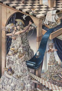 Dreamer. Oil Paintings Magical Realism meets Surrealism. By Tomek Sętowski.