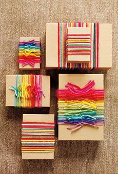 Rainbow Wedding favor boxes #rainbow #weddings