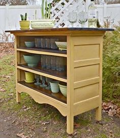 Love this idea...anyone have an older dresser that the doors don't work let me know