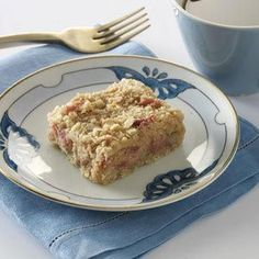 Rhubarb Cheesecake Squares Recipe from Taste of Home