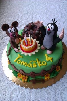 krtko Funny Cake, Food And Drink, Birthday Cake, Desserts, Recipes, Birthday, Children, Tailgate Desserts, Birthday Cakes