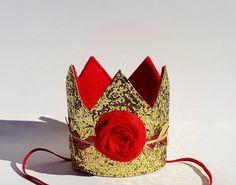 4 X Magique Princesse Gold Glitter Party Princesse Tiara Princesse Couronne Chapeaux